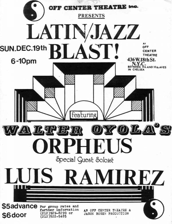 Walter Oyola's Orpheus with Luis Ramirez