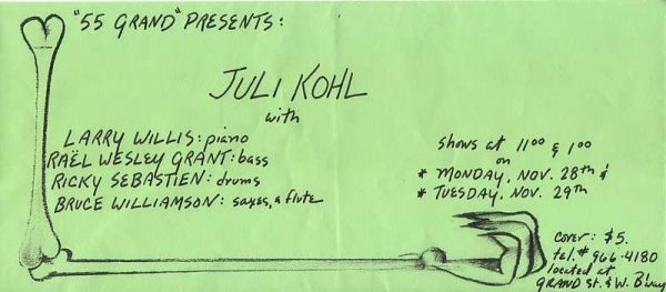 Juli Kohl - Jazz Vocalist at 55 Grand