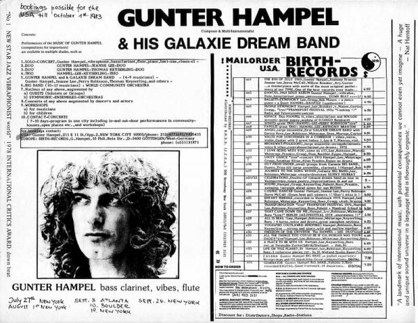Gunter Hampel & His Galaxie Dream Band