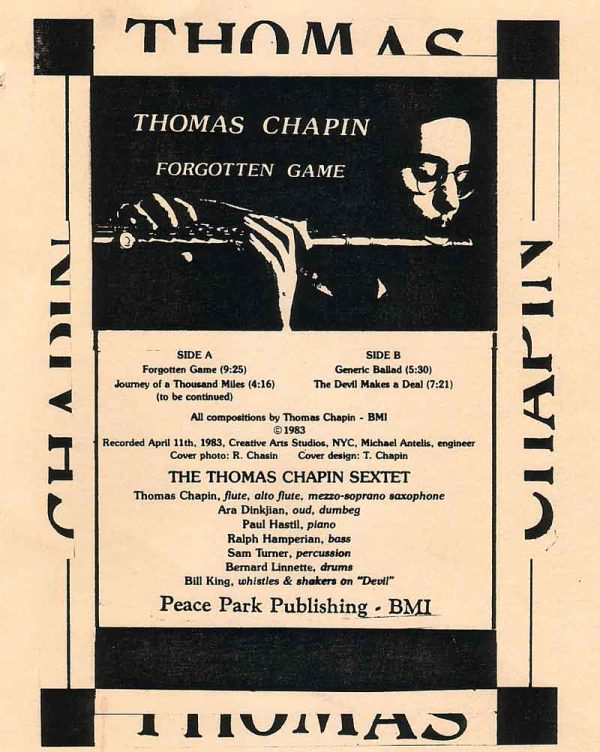 Thomas Chapin Forgotten Game