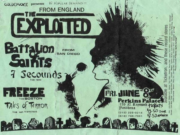 The Exploited Battalion of Saints 7 Seconds Freeze Tales of Terror